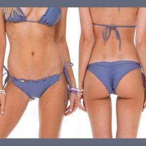 NWT Luli Fama Cosita Wavy Brazilian Bikini Bottoms